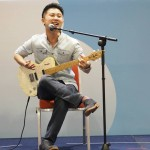 Teacher kelvin on stage @ Kids Expo (1st performance of event)